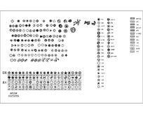 CAD植物平面图例 dwg
