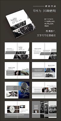 简洁高档科技黑白手表产品画册
