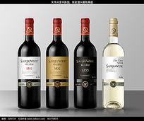 三九庄园葡萄酒瓶标设计