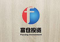 双色创意富仓投资logo