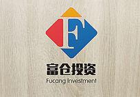 字母大气富仓投资logo
