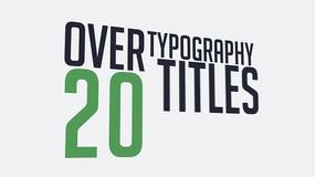 20组标题文本字幕条动画包装视频模板