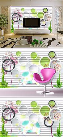 3D立体创意个性电视背景墙装饰画