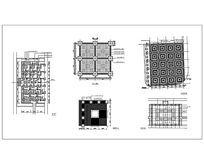 5种方形树池广场铺装平面CAD dwg