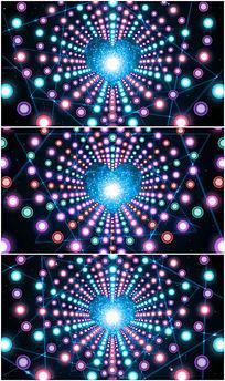 动感炫丽光斑图形图案线条粒子视频