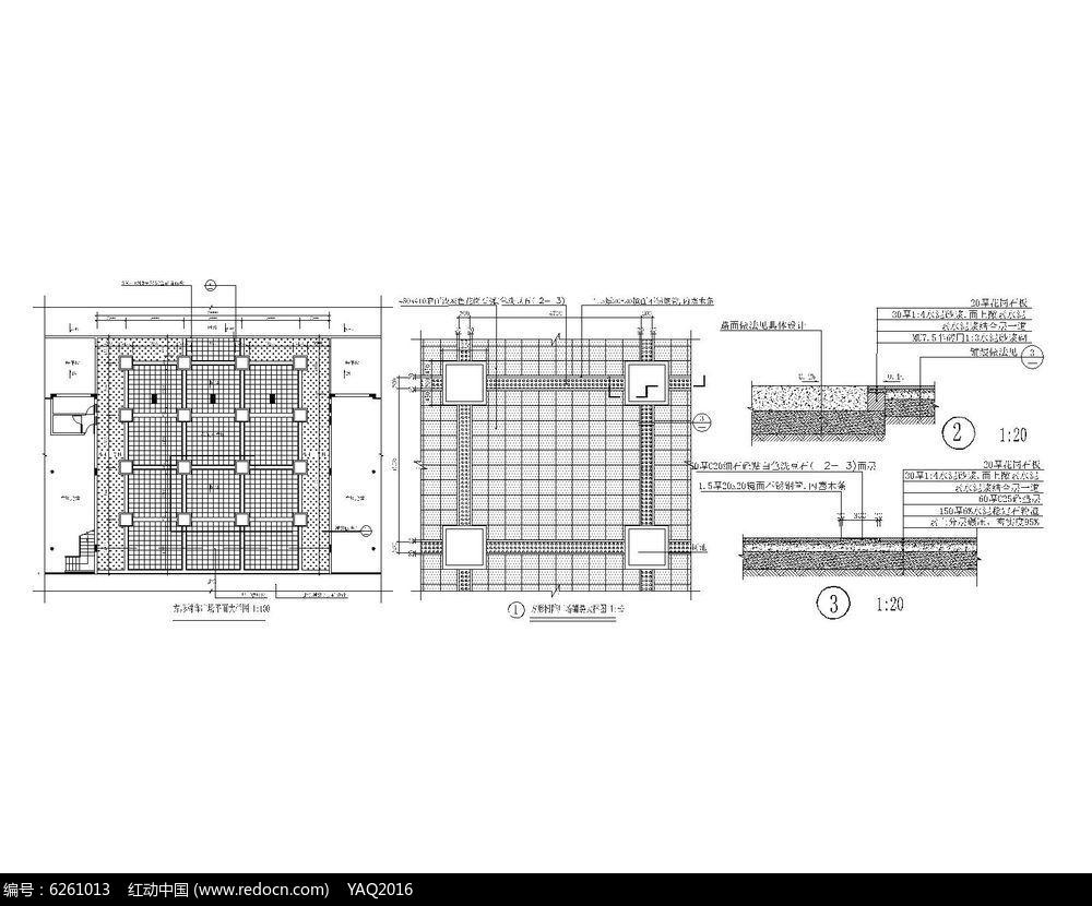 广场树阵图片铺装方形cad详图室内装修设计考证图片