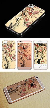 中国风梅花手机壳图案