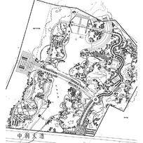 大型公园景观规划平面布置图CAD