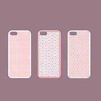 粉色可爱手机壳花纹设计