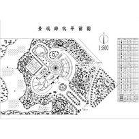 功能广场绿化设计图