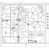 好的公园景观规划CAD设计图