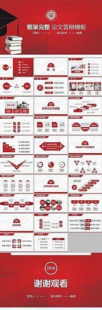 红色简约实用大学生毕业论文答辩动态开题报告PPT模板