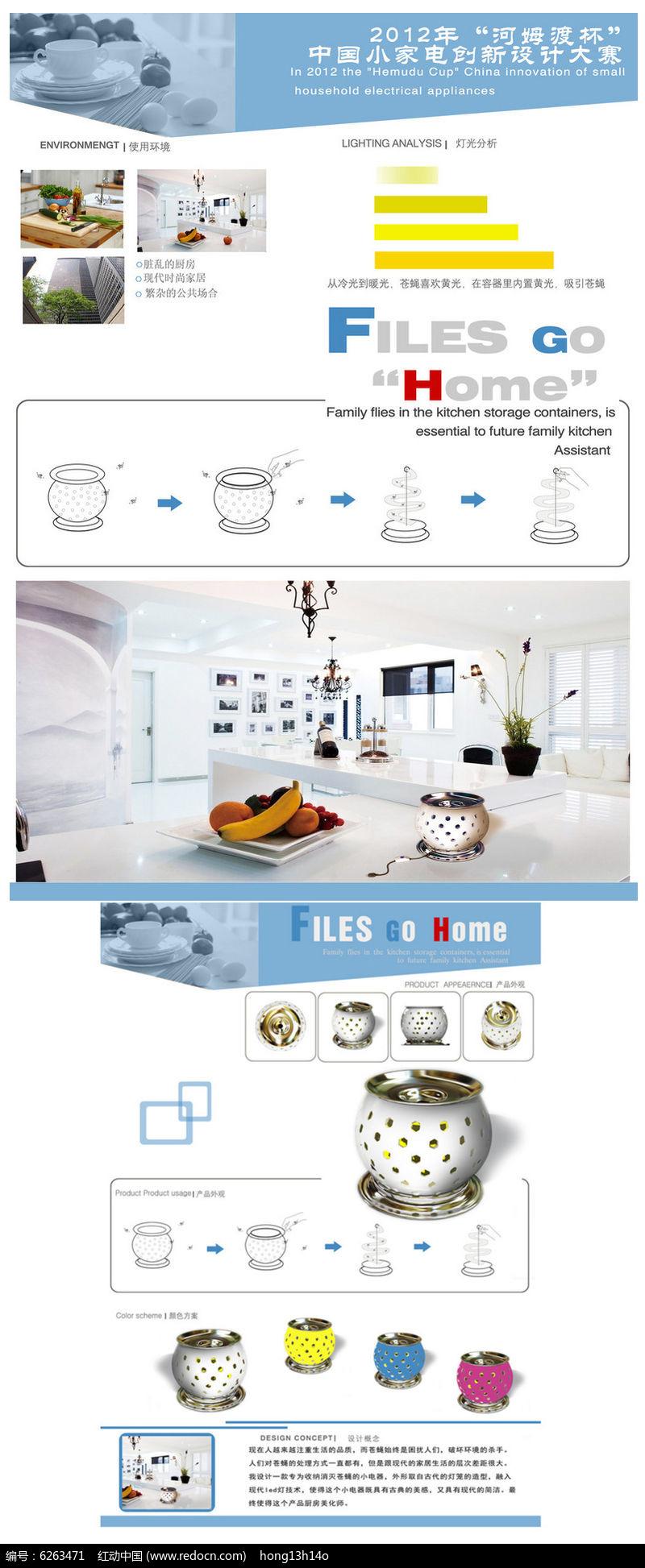 家居小产品创意展板设计图片