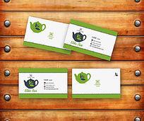 绿色茶叶名片