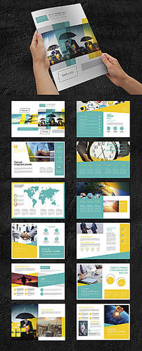 商务网络科技画册设计