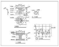水池汀步设计CAD dwg
