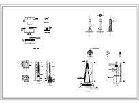 四款灯柱各立面CAD dwg