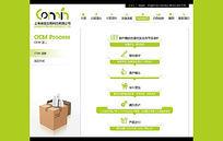 医药网站OEM流程页面 PSD