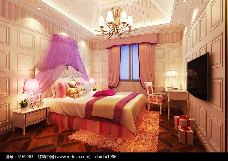 原创设计稿 3d模型库 室内装修 豪华女儿房公主房  请您分享: 素材