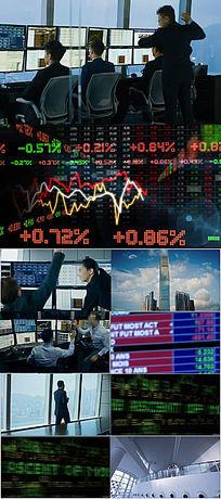 经济金融股票证券大盘数据宣传片素材