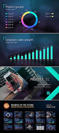 公司企业形象业务介绍宣传模板
