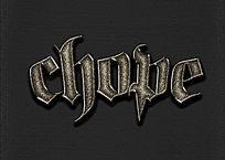 复古游戏立体字字体样式
