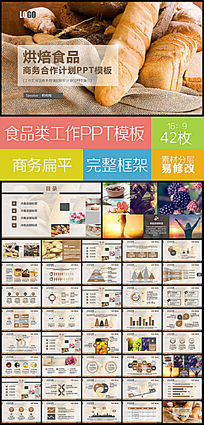 健康理念食品宣传计划企业宣传合作推广动态PPT模板