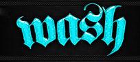 蓝色可爱气泡立体字PS样式