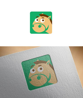 绿色创意小马logo