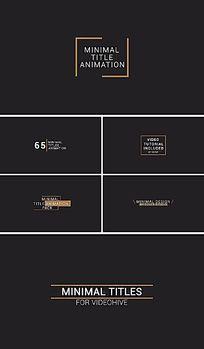 迷你商务简洁扁平字幕标题动画AE模板