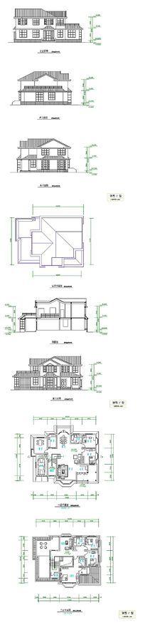别墅户型CAD平面图