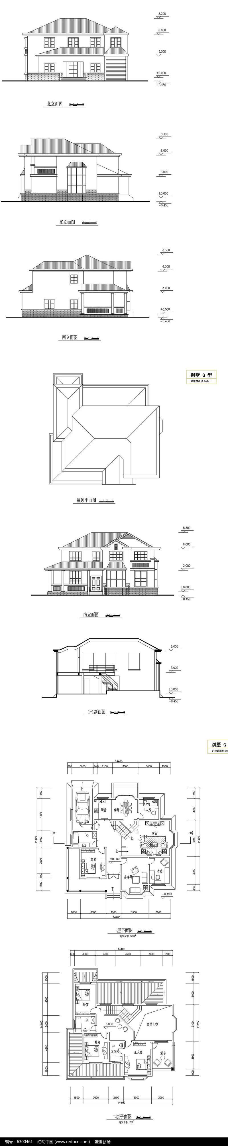 别墅建筑平面图图片