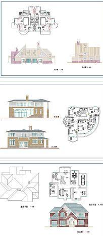 别野建筑设计CAD图 dwg