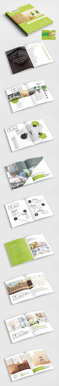 淡绿色家居装饰公司画册设计
