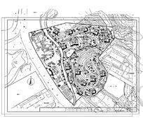 度假村规划总平面图 别墅区平面图 度假村布置图