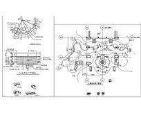 儿童戏水池 水边花池施工图CAD dwg