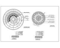广场拼花铺装平面CAD