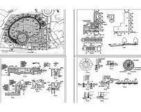 精致的游泳池施工图CAD dwg
