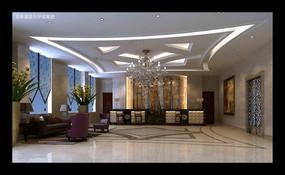 酒店大厅MAX模型