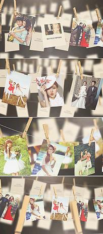 浪漫怀旧家庭回忆照片展示AE模板
