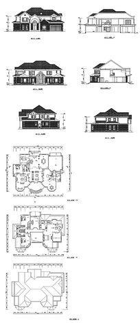 两层豪宅建筑设计CAD图