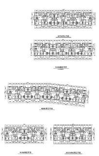 楼房建筑平面户型图