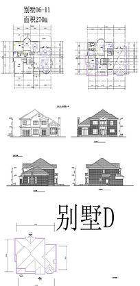 欧式住宅建筑CAD图 dwg