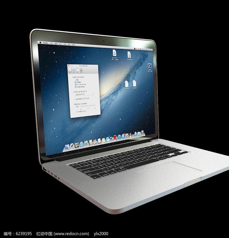 苹果笔记本3d模型_苹果笔记本3D模型_红动网