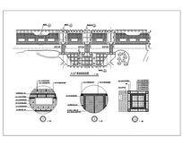 入口广场地面铺装图CAD