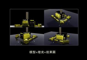商场展台设计模型效果图