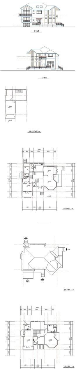 私家别墅建筑CAD图