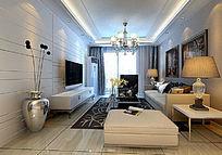 现代客厅简约仙桃电视背景墙造型