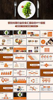 西餐餐饮产品宣传工作报告ppt模板