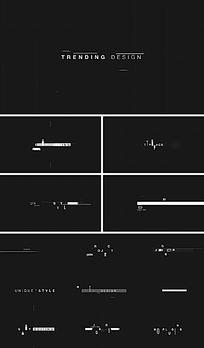 信号故障标题字幕动画AE模板